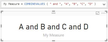 New DAX function: COMBINEVALUES – XXL BI
