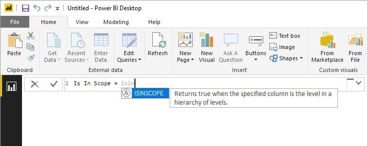 New DAX function: ISINSCOPE – XXL BI